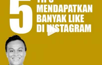 5 Tips Mendapat Banyak Like di Instagram