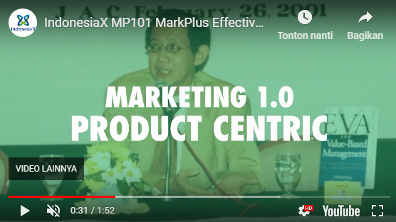 marketing 1.0 product centric